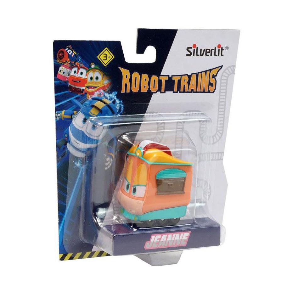 Паровозик Джейни в блистереДжейни является хранителем ворот на центр-плазе. Он не только один из самых уважаемых поездов, но и светлая голова, паровозик-наставник. Он уверен, что злу не бывать на их земле, поэтому всегда выступает против злодеев и помогает деревне. Обладает уникальной возможностью останавливать любой поезд, что, несомненно, на руку главным героям мультсериала Robot Trains. Такая игрушка идеально подходит для сюжетных игр. Благодаря паровозику-трансформеру и его верным друзьям (продаются отдельно) защитить деревню не составит труда. С полной коллекцией Robot Trains малышу и его компании не придется скучать.<br>