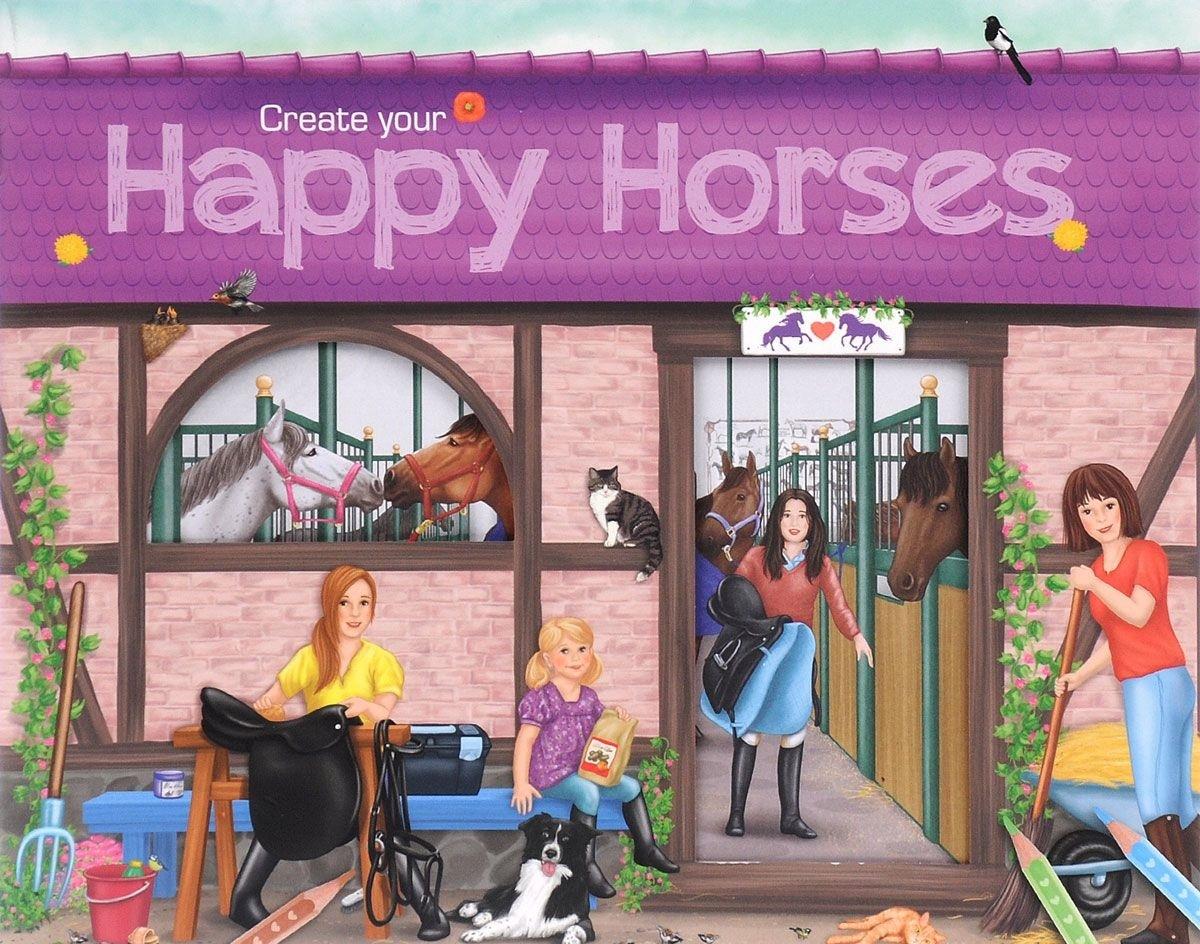 Creative Studio Альбом с наклейками Создай своих Веселых лошадейВашему вниманию предлагается красочный альбом с наклейками, для увлекательных занятий мальчиков и девочек от 3 лет.. Альбом содержит 6 листов наклеек.<br>