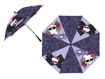 Зонт с узорами Monster High. Большой ГородКрасивый и удобный зонт с рисунками героев сериала Monster High надежно спрячет от дождя юную волшебницу<br>
