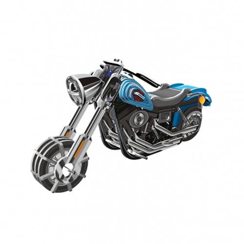 3D-пазл с моторчиком Мотобайк - Wide G 42 элемента3D-пазл Мотобайк от компании IQ Puzzle состоит из нескольких деталей, с помощью которых можно собрать миниатюрную модель мотоцикла, оснащенного инерционным механизмом. Собранная без помощи клея игрушка окрашена в серо-черный цвет с голубыми вставками, а проработанный дизайн делает ее очень интересной ля рассматривания.<br>