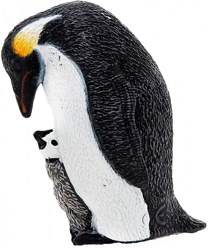 Императорский пингвин с птенцом фигурка schleich императорский пингвин