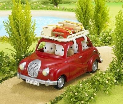 Набор Семейный пикник, с багажником для красного автомобиляСовмещается с набором Семейный автомобиль, красный.<br>