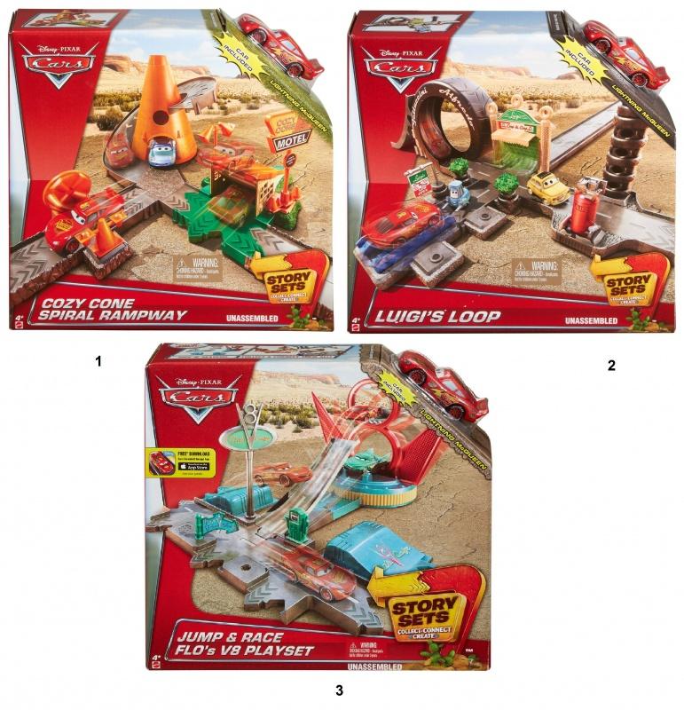 Трек Тачки - Story Sets, с машинкойИзвестная торговая марка Mattel представляет игровой набор Тачки Story Sets. Все любители быстрой езды, гонок и спортивных автомобилей по достоинству оценят этот замечательный игровой набор. Ребенку предлагается самостоятельно собрать трек для проведения гонок и начать соревнования. Трек представляет собой множество дорожных путей, а также различные строения и сооружения. Яркие и красочные цвета игрушек и отличное качество материалов, использованных для создания элементов трека и машинки, несомненно привлекут внимание ребенка. Внимание! Игрушка представлена в ассортименте, цена указана за 1 набор. Номер желаемой игрушки указывайте в комментарии к заказу.<br>