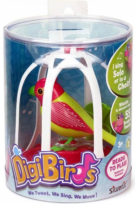Интерактивная игрушка Silverlit Птичка с большой клеткой и кольцом silverlit digibirds пингвин фигурист с кольцом серый