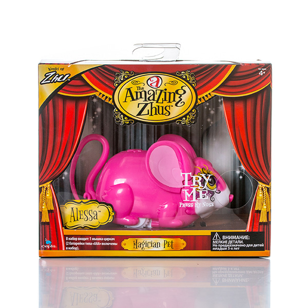 Игрушка Amazing Zhus Мышка-циркач Алесса цирковая азбука