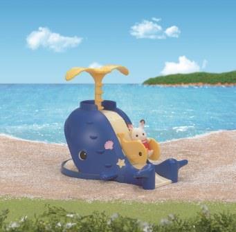 Набор Детская площадка Весёлый кашалотВо время морского путешествия детская площадка, похожая на большого кита, станет любимым местом для малышей! Набор включает в себя песочницу, большую горку и качели-китенка. *Внимание! Игрушки не предназначены для игры в воде.! Совмещается с набором Детская площадка Сокровища морей, 5210.<br>