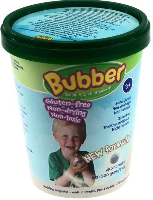 Масса для лепки Waba Fun Bubber, белая, 200 гр. песочница надувная waba fun