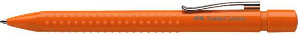 Шариковая ручка Grip 2010, оранжевыйШариковая ручка Грип обладает рядом достоинств. Яркий оранжевый корпус смотрится эффектно и современно.Особенности изделияКорпус ручки покрыт мелкими выпуклыми полусферами. Кроме того, что такой дизайнерский прием смотрится необычно и интересно, он оказывает положительное воздействие на пальцы. В процессе эксплуатации полусферы играют роль массажера. С такой ручкой можно написать текст большого объема и не устать.Ручка снабжена пружинным механизмом, который позволяет спрятать стержень внутрь корпуса. Прикрепить изделие к тетради или книге поможет блестящее «ушко».Ручку можно приобрести как в сети розничных магазинов, так и на сайте Hamleys.<br>
