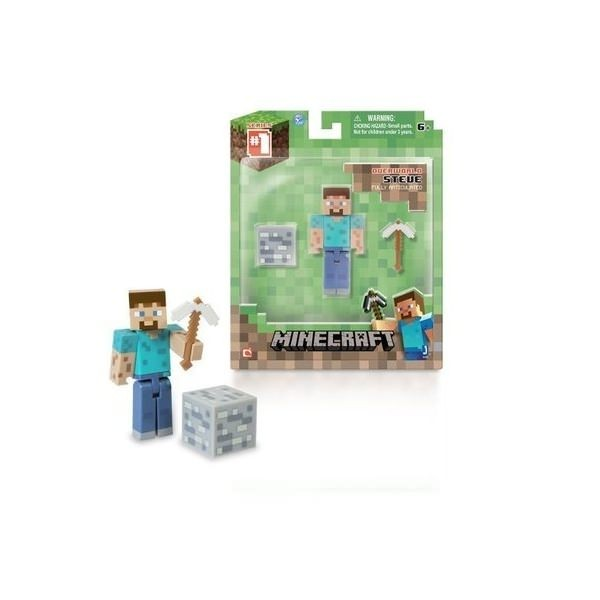 Фигурка Стив Майнкрафт 8см. Minecraft SteveИгрушка майнкрафт - Подвижная фигурка Стива, стилизованная под главного персонажа игры Майнкрафт. Помимо игрушки в набор также входит кирка, которая вставляется в руку и блок угля. Пожалуй лучший подарок, который можно купить для поклонников вселенной Майнкрафт.<br>