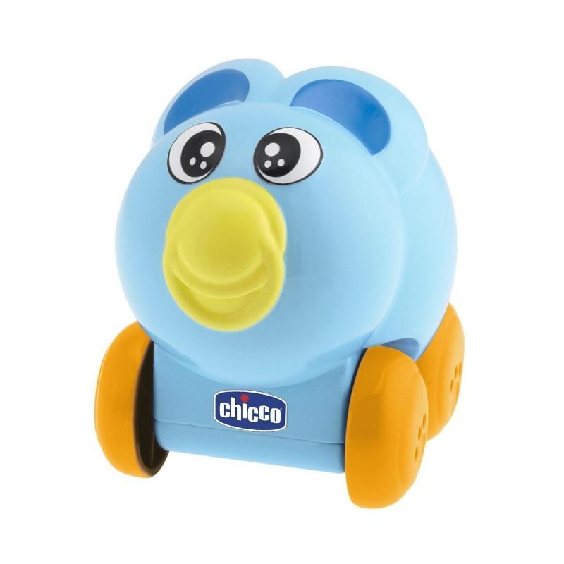 Сенсорная музыкальная игрушка Go Go Music - ЗайчикСимпатичный музыкальный зайка сине-голубого цвета очень забавный и милый. На мордочке нарисованы добрые глазки и декоративный элемент-пустышка, который добавляет ему очарования. Детки с радостью показывают пальчиком, где у зайки соска. Интерактивная игрушка удобная и достаточно легкая. Материал, из которого сделан игрушечный зверек, очень качественный и безопасный, покрытие нежное на ощупь, зайчик хорошо лежит в руке. Форма изделия округлая и совершенно не опасна для малыша, она специально разработана для оттачивания первых движений ребенка. Играть таким необычным питомцем можно начиная с полугода, когда ручки ребенка немного окрепли и он готов освоить навык ползания. Для того, чтобы игрушка начала реагировать на прикосновения и звуки, необходимо разблокировать колесики. Легонько толкнув ее, ребенок будет наблюдать, как она движется и издает звуки и забавную мелодию. При вибрации, прикосновениях ребенка или просто громких звуках сенсор срабатывает и начинает воспроизводить одну из трех встроенных мелодий. Благодаря тому, что звуковое сопровождение включается при помощи специальной карточки, контроль над уровнем шума в доме будет в руках взрослых.<br>