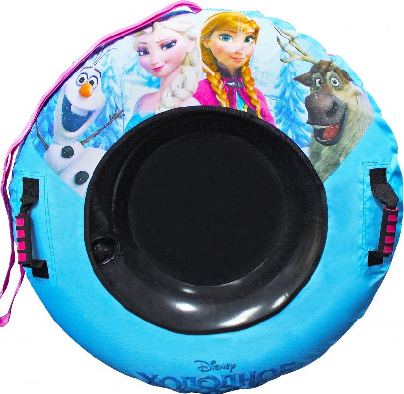 Тюбинг-надувные сани Disney Холодное сердце, 92 см.Надувные санки тюбинг - шины с красочным рисунком отлично подходят для увлекательного зимнего катания. Для удобства пользования, тюбинг имеет плотные ручки, тем самым предотвращая падения при спуске с крутых горок. Диаметр: 92 см. В комплект входят камера и чехол.<br>