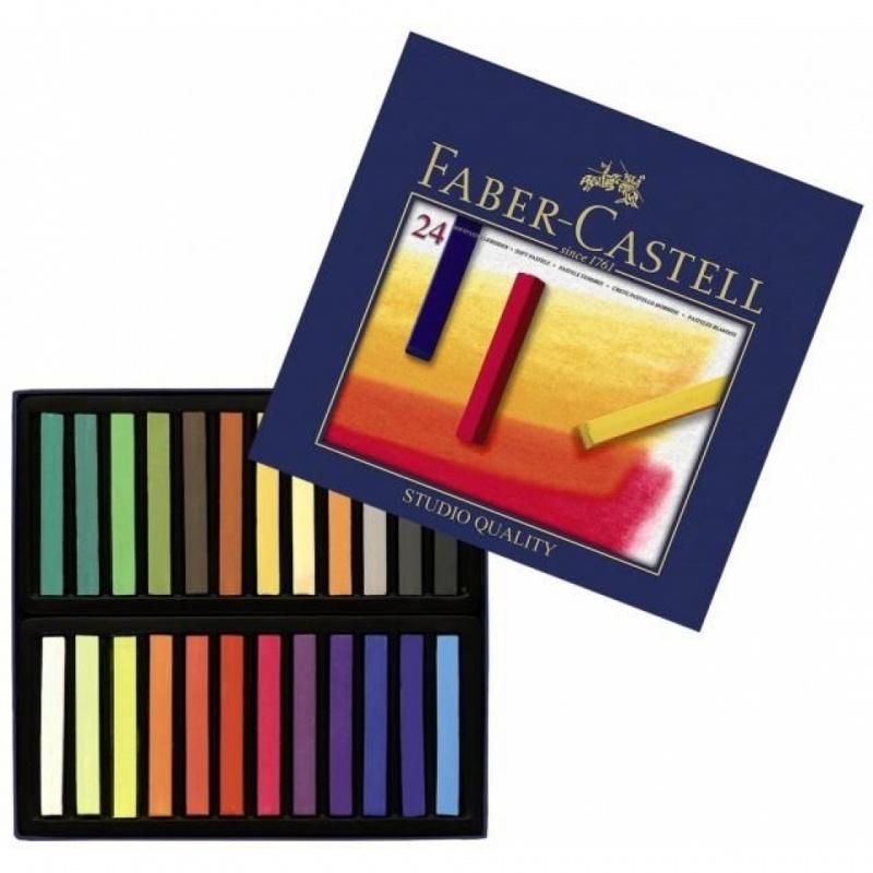 Купить со скидкой Мягкие мелки GOFA, набор цветов, в картонной коробке, 24 шт.