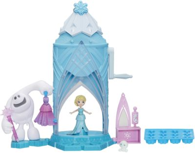 Замок Сделай волшебный снегВ набор входит - волшебный замок, форма для заморозки льда, маленькая кукла Эльза,платье, которое меняет цвет, снеговочок, который меняет цвет, аксессуары.<br>