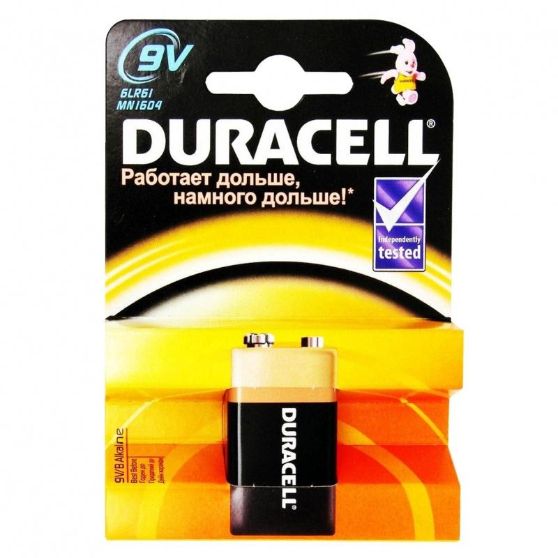 DURACELL TurboMax Батарейка алкалиновая 9V 6LR61 1шт