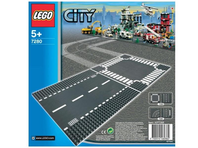 Конструктор Lego City Перекресток и прямые рельсыДорожную пластину LEGO 7280 Дорога и перекресток из серии LEGO City оценят юные любители машинок и гонок. В комплект входит участок прямой дороги и перекресток.Это набор отлично комбинируется с конструктором «Т-образный перекресток и поворот». С их помощью можно построить большую сложную трассу для своего города и устраивать гонки!<br>