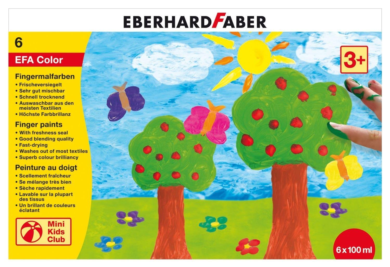 Faber-Castell Пальчиковые краски (6 пластиковых баночек по 100 мл)Faber-Castell Пальчиковые краски в картонной коробке порадуют маленького художника и помогут ему раскрыть свой талант. Ими можно рисовать не только на бумаге, но на картоне и стекле без каких-либо дополнительных приспособлений. Краска каждого цвета хранится в широкой пластиковой баночке с плотно закрывающейся крышкой. Краски имеют яркие цвета, безопасны для малыша, а широкое горлышко баночек позволяет легко набирать их пальцами. Рисование пальцами обостряет детские ощущения и положительно влияет на настроение детей. Кроме того, развивает мелкую моторику, дает наиболее сильное восприятие цвета.<br>