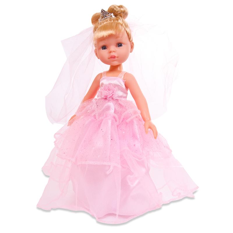 ABtoys Кукла Весенний вальс (цвет свадебного платья розовый)Очаровательная кукла ABtoys Весенний вальс позволит девочке придумать различные увлекательные сюжеты для тематических игр. Куколка одета в розовое свадебное платье с короной и фатой. На ногах куклы - туфельки. У куклы длинные волосы, собранные в пучок.Ваш ребенок может заботиться о своей кукле, как о настоящем друге. Выразительный внешний вид и аккуратное исполнение куклы, делают ее идеальным подарком для любой девочки!<br>