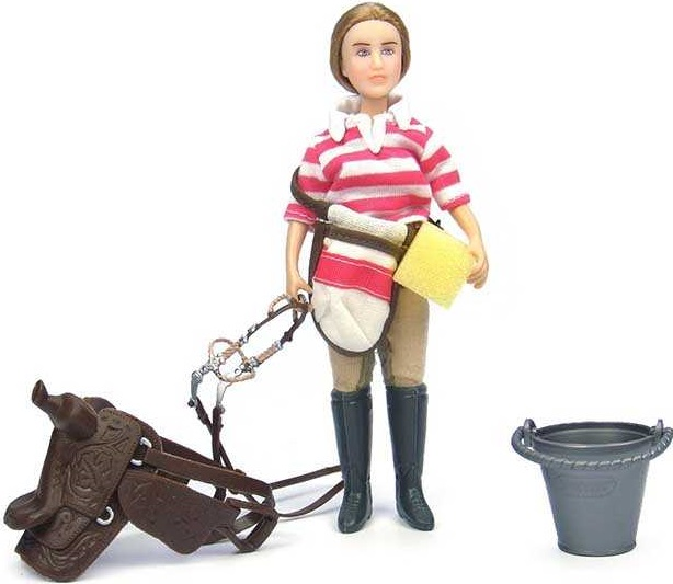 Набор Breyer Кукла Ева с аксессуарами для лошади breyer трактор с аксессуарами