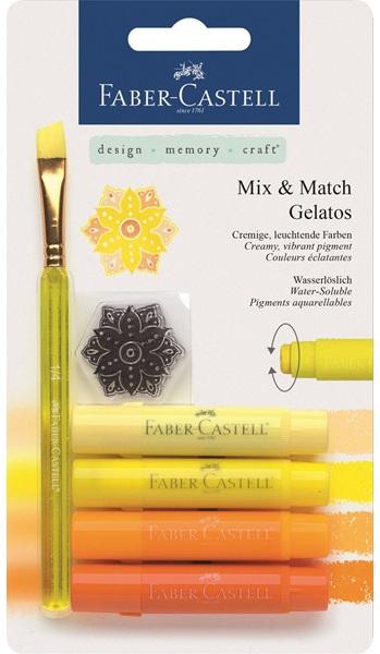 Gelatos желтый, 4 шт., в блистере с маркой и кисточкой