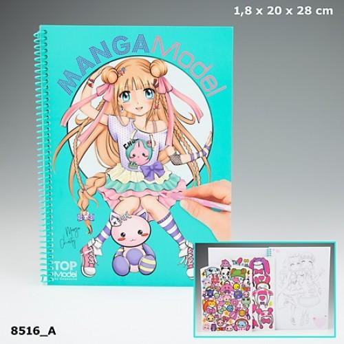 TOPModel Manga Альбом для раскрашивания с наклейками