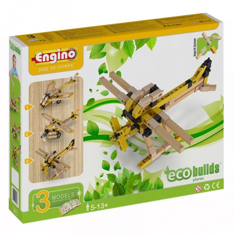 Конструктор Eco builds  - Самолеты, 119 деталейКонструктор Самолеты из серии Eco builds состоит из 119 деталей. Все детали конструктора изготовлены из натуральной древесины, благодаря чему абсолютно безвредны для ребенка. При помощи всех деталей и подробной инструкции, ребенок сможет собрать уникальный деревянный самолетик в 3 различных вариантах по желанию. Готовая деревянная модель может послужить в качестве уникального элемента декора в комнате мальчика.Возраст: от 5 летДля мальчиковКоличество деталей: 119 шт.Материалы: дерево, пластик.Размер упаковки: 27 x 21 x 5 см.<br>