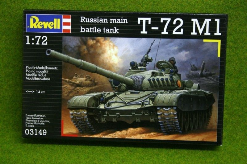 Сборная модель Revell Советский танк T-72M (1/72)Сборная модель Revell Танк (1979г.СССР) T-72 M1 1:72 (3149) представляет собой модель боевого танка, которая станет отличным подарком как для детей, так и для взрослых коллекционеров. Сборная модель от ТМ Ravell имеет высокую степень детализации и выглядит как оригинал в миниатюре, ведь все фрагменты транспорта соответствуют настоящей технике. Собранная модель имеет открывающиеся и подвижные элементы. Собрать модель можно согласно инструкции, а декор модели можно осуществить с помощью специальных красок и наклеек. Все комплектующие набора изготовлены из высококачественных материалов и абсолютно безопасны. Каждая модель имеет свой степень сложности, который указан на упаковке.<br>
