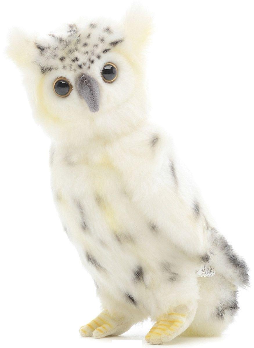 6155 Сова белая, 18 см мягкая игрушка сова hansa сова белая 18 см белый искусственный мех синтепон 6155