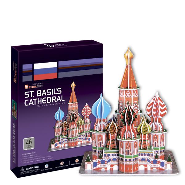 Игрушка  Собор Василия Блаженного (Россия) игрушка собор василия блаженного россия cubic fun