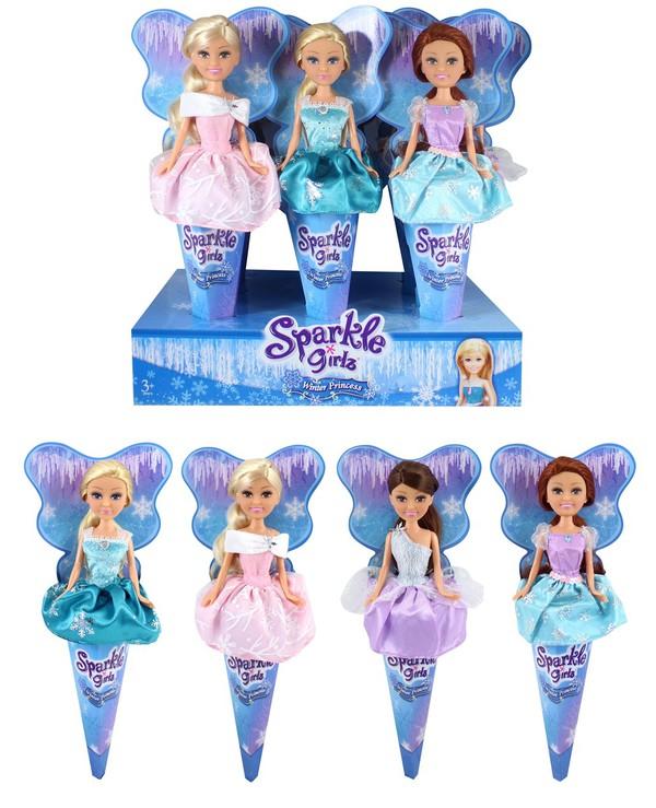 Кукла Sparkle Girlz в рожке, Зимняя версия funville кукла sparkle girlz модница в рожке в ассортименте funville