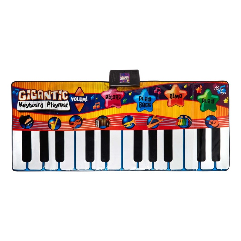 Игрушка Напольное пианиноСоздавайте настоящую музыку! С помощью этого синтезатора вы сможете играть мелодии звуками ксилофона, аккордиона или гитары.<br>