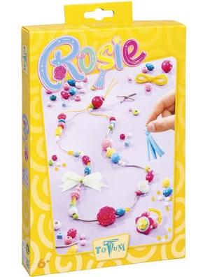 Набор для творчества Totum RosieВ набор входят: декоративная кисточка, металлические бусины, разноцветные кнопки, бусина в виде розы, несколько бусин в виде ягод, большие круглые пластиковые бусины нескольких цветов, несколько стеклянных бусин, деревянные бусины нескольких форм и цветов, эластичная нить, маленькая лента, иголка, инструкция.<br>