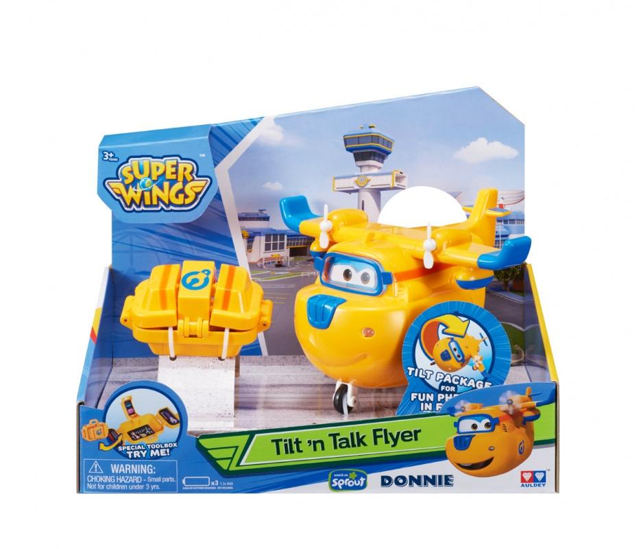 Интерактивная игрушка Донни с чемоданчиком (со световыми и звуковыми эффектами)Интерактивная игрушка Донни с чемоданчиком послужит отличным дополнением в игровую коллекцию юного любителя самолетов и вертолетов. Плюс, это не простой вертолет - это Донни, у которого есть все, что требуется от живого существа, а значит, он станет настоящим другом ребенка.Вышеперечисленное - это не единственный плюс данной игрушки. У него также есть такие функции как подсветка и звук, что сделает игру еще более интересной. В комплекте с Донни идет чемоданчик и аксессуары, так что в случае предполагаемой поломки его можно будет легко починить. Также из вертолета Донни легко превращается в робота, с руками и ногами, что сделает его несомненно делает его еще более интересным как игрушку.Возраст: от 3 летДля мальчиковЦвет: желтый.Комплектация: самолет Донни, чемоданчик, аксессуары.Тип батареек: 3 x AAA / LR0.3 1.5V (мизинчиковые).Материалы: пластик.Размер упаковки: 29 x 15.3 x 16.5 см.<br>