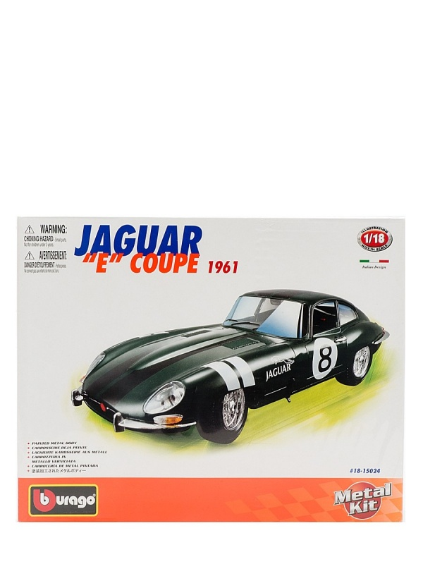 1:18 BB Машина СБОРКА JAGUAR E COUPE (1961) металл. в закрытой упаковке 1 1 18 bb машина сборка jaguar e coupe 1961 металл в закрытой упаковке 1