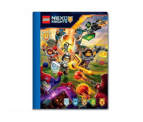 Тетрадь (100 листов, линейка) LEGO Nexo Knights (Рыцари Нексо), размер 19х24,7 см (51641)Толстая тетрадь (100 листов) с изображением LEGO Nexo Knights (Рыцарей Нексо) из одноименной серии «Лего» порадует юного поклонника легендарных игр. Для маленького коллекционера такая канцелярская принадлежность станет отличным предметом для пополнения коллекции.Учиться веселее с героями «Лего»Сюжетный рисунок содержит сцену из популярного мультфильма с красочными героями, благодаря чему тетрадка понравится ученикам начальных и средних классов. Обложка сделана из прочного картона, так что странички не будут мяться в детском портфеле.Страницы имеют формат А5, тетрадь в линейку подойдет как для уроков, так и для домашних заданий или личных записей. Изделие имеет стандартную ширину, достаточную для фиксирования больших заданий.Товар вместе с другими принадлежностями можно купить в магазинах  Hamleys в Москве, Санкт-Петербурге или по Московской области, а также заказать с доставкой на дом на выгодных условиях.<br>
