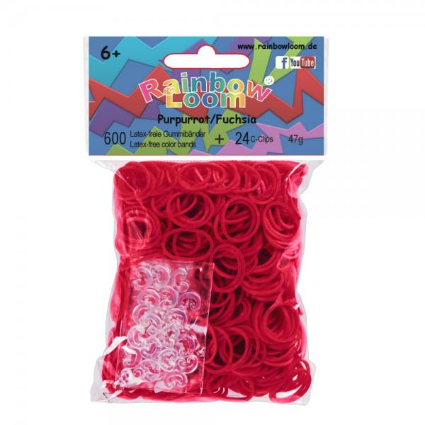 Резиночки - Фуксия набор для творчества diy резиночки для плетения слоник