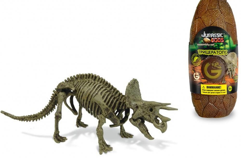 Яйцо динозавра - сборная модель ТрицератопсаСборная модель Geoworld Яйцо динозавра Юрского периода. Трицератопс познакомит вашего ребенка с интересными доисторическими обитателями нашей планеты!Набор представлен в интересной упаковке в виде яйца динозавра, которое затем можно использовать как стаканчик для письменных принадлежностей или для хранения других предметов. Внутри яйца находится выполненный с детальной точностью скелет трицератопса, который ребенку предстоит самостоятельно собрать! Также в наборе находится буклет с инструкцией по сборке и познавательной информацией об этих гигантских доисторических рептилиях.Игрушки Geoworld рассчитаны на детей школьного возраста, так как в коллекции большое количество сборных моделей, каждая модель сопровождается информационным буклетом, содержащим в себе подробные научные сведения. Основными темами коллекции являются палеонтология, выраженная в аутентичных ископаемых и скелетах динозавров, и геология, дающая возможность совершать открытия в области минералов и драгоценных камней. Вся продукция является оригинальной и уникальной, так как содержит аутентичные по размеру, форме и составу образцы материалов, идентичных копий которых не существует<br>