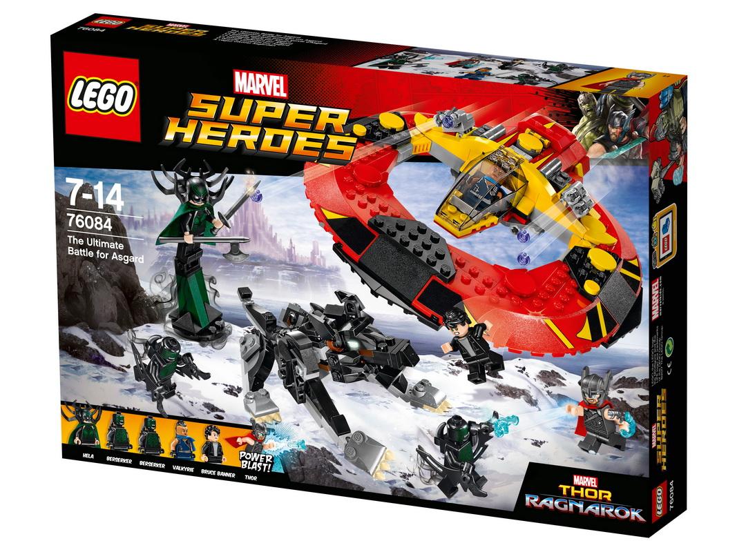 Конструктор Lego Super Heroes Решающая битва за АсгардКосмические сражения могут разыгрываться не только в далеких галактиках. Вместе с новым конструктором Лего Решающая битва за Асгард вы можете устроить грандиозную битву за свободу у себя дома, навсегда запретив врагам даже появляться на горизонте. Предстоит непростая задача — планируется нападение на Асгард, и вам с Валькирией и Брюсом Беннером предстоит долгий перелет и сложное сражение для освобождения планеты. Четыреста деталей, которые необходимо собрать в мощный и быстроходный летательный аппарат, — все это потребует времени и сообразительности. Легко не будет — в битве участвуют берсерки и настоящий космический волк, удар лап которого может оказаться смертельным для слабого, боязливого игрока.<br>