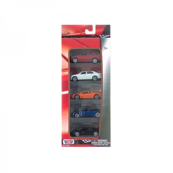 Набор MOTORMAX лицензионных машинок 1:64 76см 5 штук motormax пусковая установка 2 машинки 1 64