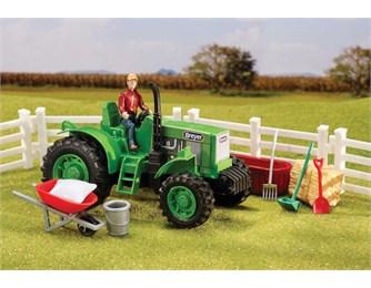 Трактор с аксессуарами breyer трактор с аксессуарами