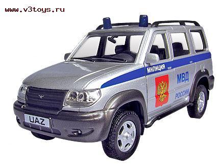 Коллекционная модель UAZ Patriot - Милиция, 1:43 машинки autotime машина uaz 31514 ваи