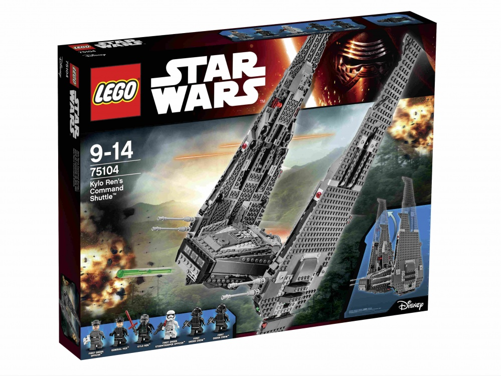 Конструктор Lego Star Wars 75104 Командный шаттл Кайло Рена lego игрушка звездные войны командный шаттл кайло рена