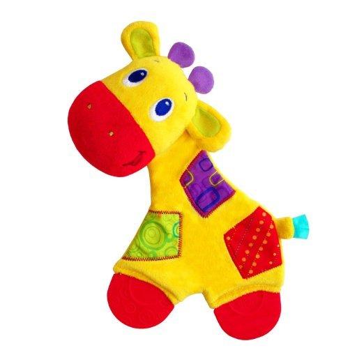 Развивающая игрушка Bright Starts Самый мягкий друг с прорезывателями Жираф/СлонМногочисленные развивающие элементы, яркие цвета ткани направлены на развитие мыслительной деятельности, цветового и слухового восприятия, тактильных ощущений и мелкой моторики рук ребенка.Особенности:Мягкая игрушка с яркими акцентами и мягким тельцем, которое шуршитТекстурированные прорезыватели на ножкахИгрушка, которую легко держать маленькими ручкамиПотрясите, чтобы услышать приятные звуки погремушкиВНИМАНИЕ! Игрушка в ассортименте. При заказе необходимо указать желаемый вариант в поле комментарииДоступные варианты Слон, Жираф<br>
