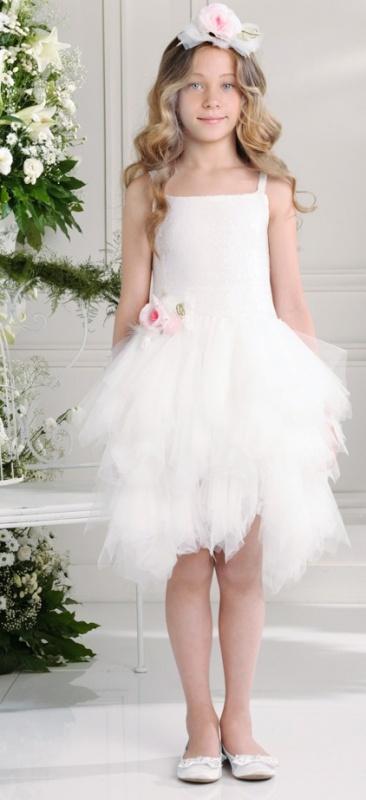 Платье Les Gamins CF504462BНарядное платье от итальянского бренда класса люкс Les Gamins. В комплект к платью идет обруч.<br>