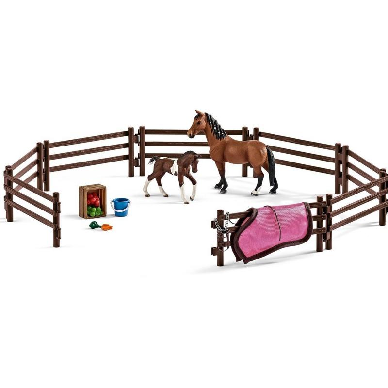 Набор Загон (без животных и аксессуаров) schleich набор аксессуаров для фигурок кормление и уход за животными