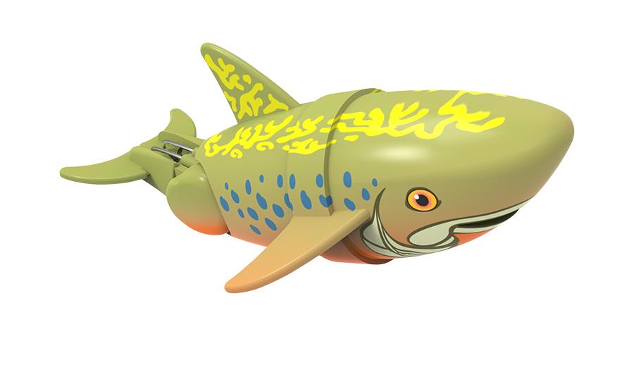 Рыбка-акробат Брукс, 12 смРыбка-акробат плавает и ныряет. Траектория движения игрушки зависит от наклона хвоста. Игрушка работает от двух батарее типа ААА (LR03). Батарейки в комплект не входят.<br>