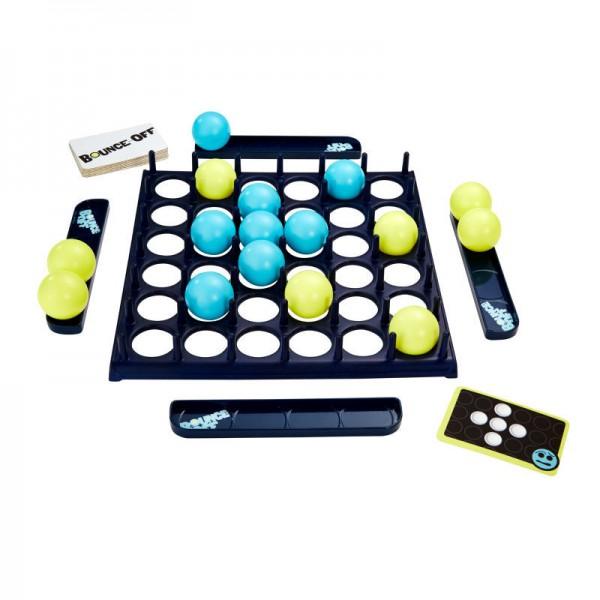 Игра Bounce OffВеселая игра Bounce Off покажет, кто из вашей компании самый быстрый, ловкий и сообразительный! Игра рекомендована , но и взрослым будет весело и интересно поиграть в нее вместе с детьми.В комплекте:игровое поле с отверстиями для шариковшарики двух цветовподставки для шариковкарточки с узорами.В начале игры каждый игрок выбирает карту с узором, а затем пытается заполнить решетку, создавая узор, указанный на карточке.Эта игра отлично подойдет для веселых вечеринок, пикников и любых встреч с друзьями.<br>