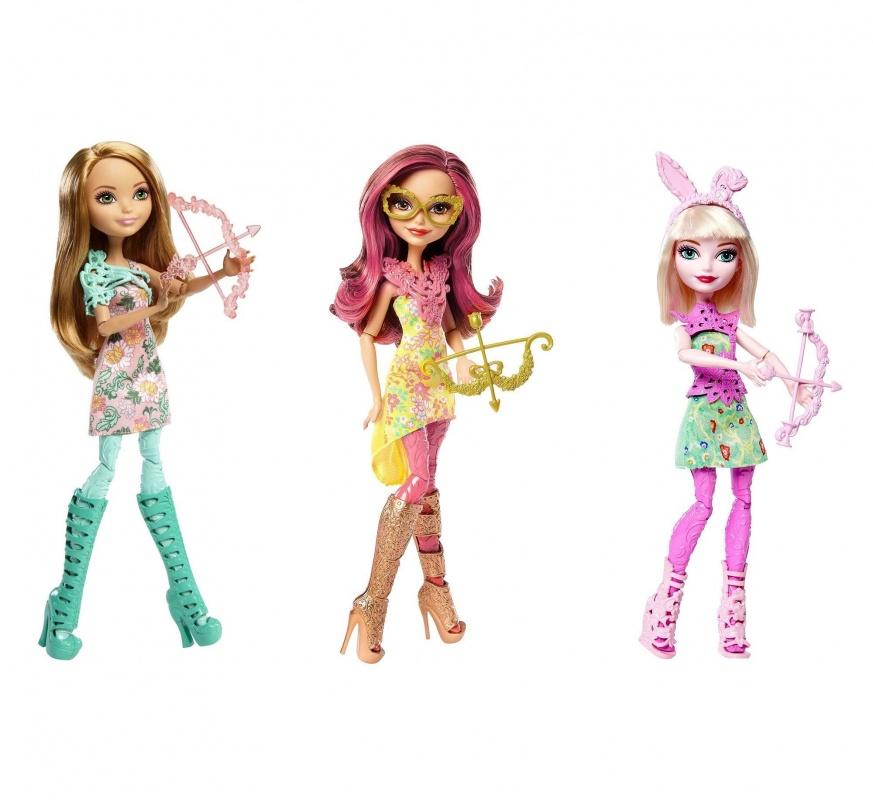 Кукла Ever After High ЛучницаКукла Лучница из серии Ever After High от популярного бренда Mattel восхищает своим внешним видом. Компания-производитель уделила серьезное внимание ко всем мелочам, чтобы ребенок мог насладиться итоговым результатом. Приятные черты лица, длинные красивые волосы, модная одежда - все это, несомненно, вносит куклу в разряд премиум класса.Кукла Эвер Афтер Хай оснащена миниатюрным луком со стрелой. Невероятное сочетание женственности и воинственности придают героине дополнительный шарм, перед которым не смогут устоять юные обладательницы игрушки.Девочки могут выбрать персонаж, который будет им ближе по характеру или внешнему виду: очаровательная Эшлин Элла, загадочная Розабелла Бьюти или модная Банни Бланк.<br>