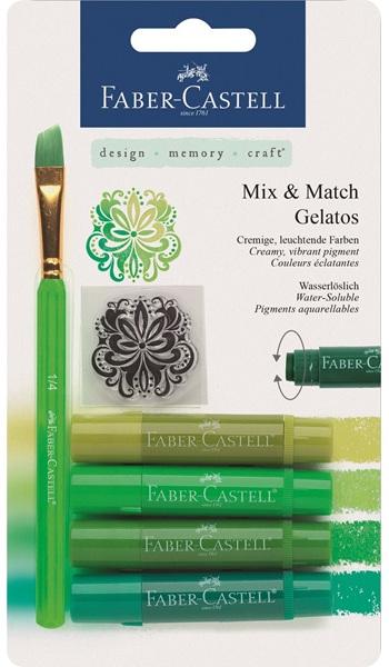 Gelatos зеленый, 4 шт., в блистере с маркой и кисточкойGelatos представляет великолепный набор для творчества. В составе четыре гелевых мелка: зеленый, болотный, оливковый, кислотный. Оттенки смешиваются между собой, благодаря чему можно добиться очень интересного результата. Для микса и растушевки используется кисть со скошенным краем, выполненная в стильном дизайне. Ее ворсинки и корпус также насыщенного зеленого цвета. В наборе имеется трафарет с восточным рисунком. Пользоваться мелками просто и удобно, они не пачкают пальцы, так как находятся в прочном пластиковом корпусе. Стержень выкручивается. Гелевые мелки Гелатос зеленый – отличный способ для развития фантазии ребенка.<br>