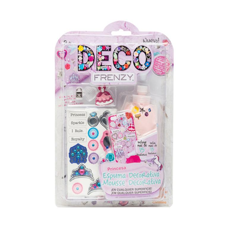 Набор для декорирования Deco Frenzy Принцесса, 20x30x3 cmНабор для творчества Принцесса из серии Deco Frenzy станет замечательным подарком для креативных девочек. В набор включены лист с наклейками. несколько аксессуаров и тюбик с декоративной пеной. Все детали выполнены в тематических цветах и формах. С помощью данных элементов можно создавать красочные образы принцессы. Данный набор поможет в развитии творческого мышления и воображения ребенка.<br>