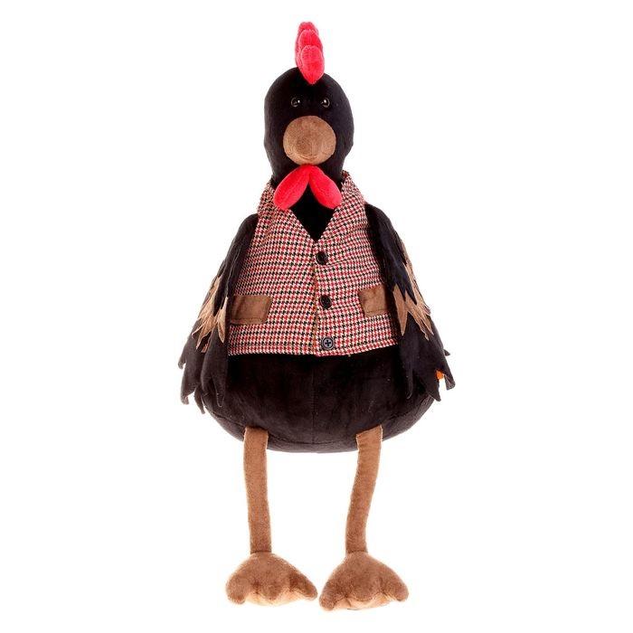 Петушок Савва 30Познакомьтесь - это Петушок Савва. Савва может быть и выглядит серьезным и немножко строгим, но на самом деле он добрейшей души птица. Савва отличается шелковистымичерными перьями, которыми очень гордится и ярко красным гребешком, который видно издалека. Савва любит носить жилетку в клеточку с красивыми карманами, потому чтоэто стильно и удобно. А главное - она очень нравится его подруге Варе.Размер игрушки указан в сидячем положении, без учета длины лап. Качество подтверждено российскими сертификатами соответствия. Изготовлено из гипоаллергенных материалов.Состав: Наполнитель - волокно полиэфирное и полиэтиленовые гранулы. Мех искусственный, трикотажный. Фурнитура из пластмассы. Срок службы не ограничен. Правила ухода: ручная стирка при температуре 30°.<br>
